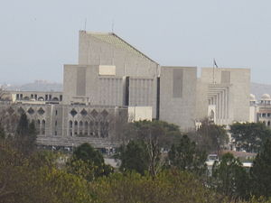 Supreme Court of Pakistan - Supreme Court of Pakistan from govt flats, Islamabad.