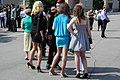 Suvorov Military School student crowded by girls.jpg