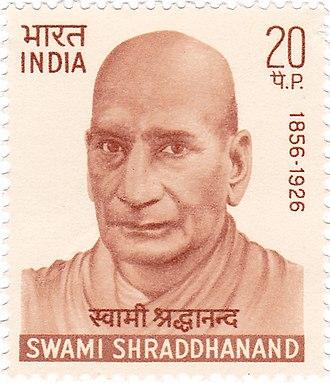 Swami Shraddhanand - Swami Shraddhanand on a 1970 stamp of India