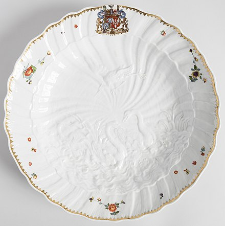 Plate from the Swan Service Swan Service Charger, 1737-41 (CH 18383791) (cropped).jpg