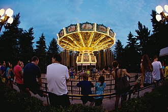 Swing of the Century is a swing ride located in the Grande World Exposition. Swings of the Century at night in Canada's Wonderland.jpg