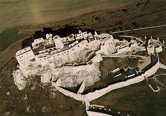 Spiš - Aerial photograph of the Castle