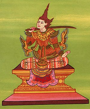 First Toungoo Empire - King Tabinshwehti depicted as the Tabinshwehti Nat