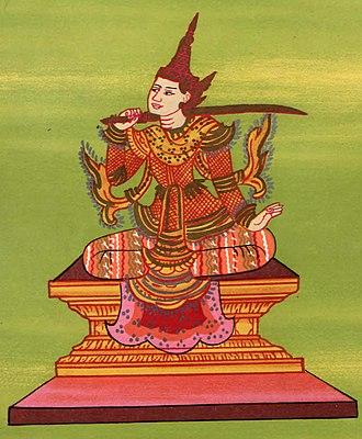 First Toungoo Empire - King Tabinshwehti depicted as the Tabinshwehti Nat