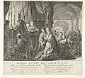 Tableau vivant met het huwelijk van Jacobus II van Schotland met Maria van Gelre-Egmond in 1449, 1642 Generos Tethys emit omnibus undis (titel op object), RP-P-OB-76.727.jpg