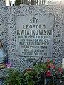 Tablica na nagrobku Leopolda Kwiatkowskiego.jpg