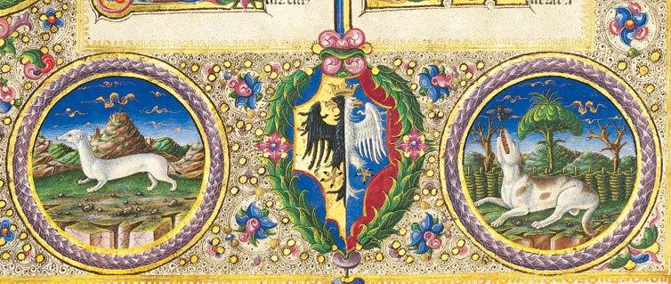 Taddeo crivelli, bibbia di borso d'este 23
