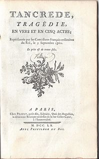 Tancrède (tragedy) five-act tragedy by Voltaire