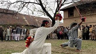 Gatka - Tanoli tribesmen practicing the Gatka sport in northern Pakistan.