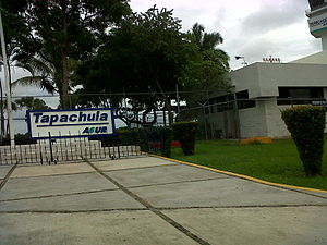 Tapachula International Airport - Image: Tapachula airport parking lot
