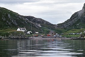 Tarbet Sutherland seen from Handa Island Ferry 1997.jpg