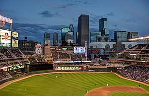 Target Field - View of downtown Minneapolis from Target Field, May 14, 2014