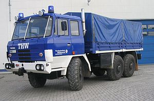Technisches Hilfswerk - A Tatra 815 from the THW