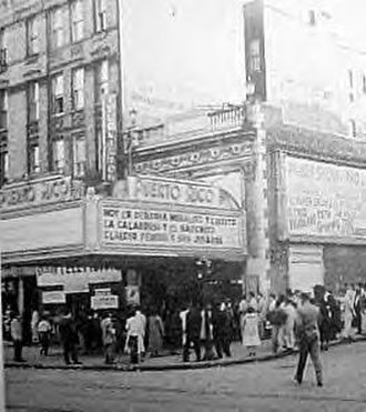 Puerto Ricans in the United States - Teatro Puerto Rico (1950s) in the South Bronx, New York City.