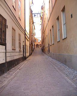 Telegrafgränd alley in Gamla stan, Stockholm, Sweden