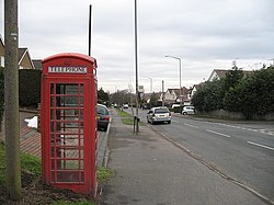 Telephone box, Upper Marlbrook - geograph.org.uk - 1168718.jpg