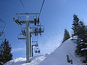 Chairlift in Praz de Lys-Sommand, Haute-Savoie, France