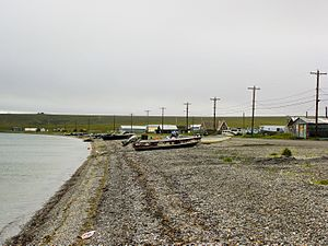 Teller, Alaska - The beach at Teller, Alaska