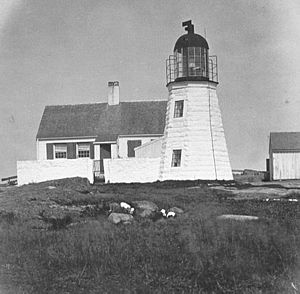 Ten Pound Island Light - The 1821 lighthouse