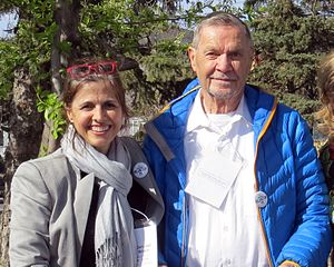 Jim Hawkes - Hawkes (right) with his daughter, Terri