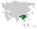 Tesia olivea distribution map.png