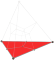 Tesseract tetrahedron shadow with alternating vertex colors, lower cube.png