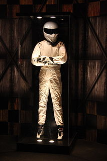 The Stig Character on the British motoring television show Top Gear