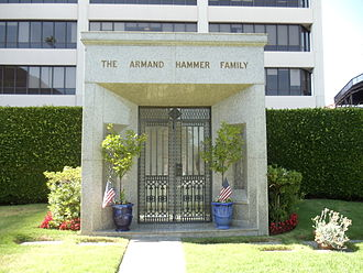 Armand Hammer - The Armand Hammer Family tomb in Westwood Memorial Park, Westwood, Los Angeles, California