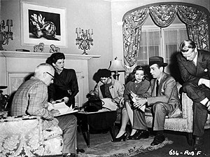 Sonia Darrin - Darrin is second from the left in still from The Big Sleep (1946)