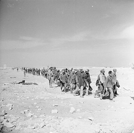 German prisoners brought in from the battle The Campaign in North Africa 1940-1943 E18485.jpg