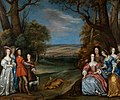 The Carlile Family with Sir Justinian Isham in Richmond Park by Joan Carlile.jpg