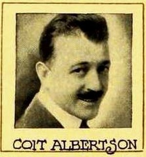 Coit Albertson - From an ad for The Carter Case (1919)
