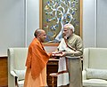 The Chief Minister, Uttar Pradesh, Yogi Adityanath calls on the Prime Minister, Shri Narendra Modi, in New Delhi on December 02, 2017.jpg