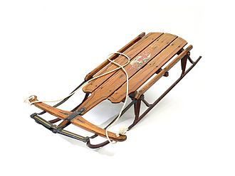Flexible Flyer - A Flexible Flyer sled, from 1936, within the permanent collection of The Children's Museum of Indianapolis.