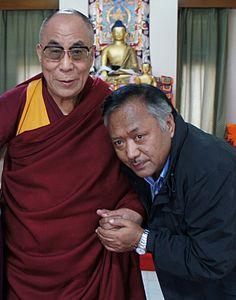 The Dalai Lama with Jamyang Dorjee Delhi Nov. 2010.JPG