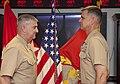 The Deputy Commandant for Programs and Resources, U.S. Marine Lt. Gen. Glenn M. Walters, left, promotes Col. John M. Jansen to the rank of brigadier general during a ceremony at the Pentagon in Arlington, Va 130719-M-KS211-006.jpg