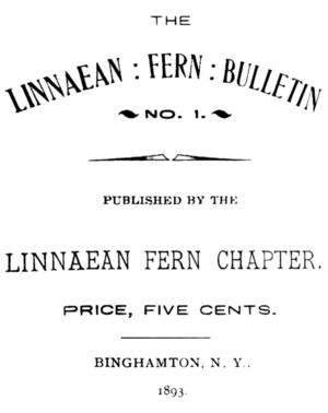 The Fern Bulletin cover Vol 1, No 1, 1893.png