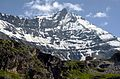 The Grande Sassiere 3747 m as seen from the road just beneath le Saut with the ruined houses - panoramio.jpg