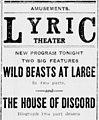 The House of Discord newspaper advertisement 1914.jpg