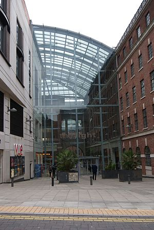 The Light (Leeds) - The northern entrance to The Light