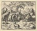 The Lion Takes the Advice of the Other Animals for Renard's Punishment from Hendrick van Alcmar's Renard The Fox MET DP837692.jpg