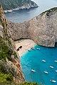 The Panagiotis Shipwreck at Navagio Beach Zakynthos Greece (44652869800).jpg