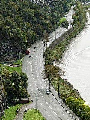 Portway, Bristol - The Portway running alongside the Avon Gorge