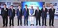 The Prime Minister, Shri Narendra Modi and the Prime Minister of Japan, Mr. Shinzo Abe visit the Exhibition, at Mahatma Mandir, in Gandhinagar, Gujarat on September 14, 2017 (3).jpg