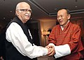 The Prime Minister of Bhutan, Mr. Lyonchen Jigmi Y. Thinley meeting with the Leader of Opposition in Lok Sabha, Shri L.K. Advani, in New Delhi on July 16, 2008.jpg