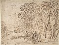 The Rest on the Flight into Egypt (recto); The Arch of Titus, Camp Vaccino (verso) MET DP805691.jpg