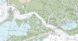 Rigolets - Image: The Rigolets (Louisiana) 2016 NOAA nautical chart