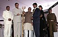 The Union Minister for Shipping, Road Transport and Highways, Shri T. R. Baalu lighting the lamp at the 67th Annual Session of Indian Roads Congress at Panchkula, Haryana on November 18, 2006.jpg