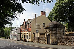 The Vaults pub and a roundhouse, Ruabon (geograph 4024558).jpg