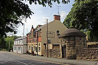 Ruabon village and community in the county borough of Wrexham in Wales